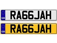 RAJAH OR RAJAH A VERY POPULAR ASIAN NAME ON A PRIVATE NUMBER PLATE FOR SALE