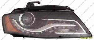 Head Light Driver Side Xenon Without Curve [From 6/21/2010 To 2011] High Quality Audi A4