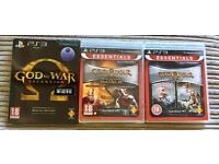 God of War - PAL PS3 Bundle! Collection Vol.1 (New), Vol.2 (New, Sealed) + Ascension (New)
