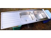 Stainless steel double kitchen sink - Franke