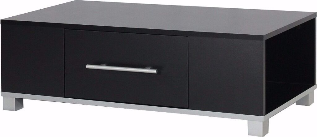 1 Drawer Coffee / Occasional Table (BLACK) New Assembled Ex-Display (Fixed Price)