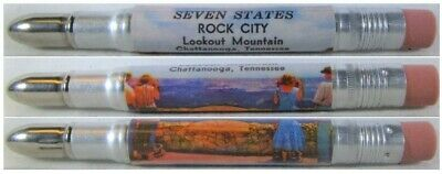 RESTORED Vintage Bullet Pencil - Seven States, Rock City, Lookout Mountain 1338