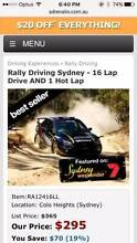 RALLY DRIVING SYDNEY GENUINE GIFT VOUCHER Newcastle Newcastle Area Preview