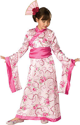 Asian Princess rosa Kimonokleid Asien Japan Kostüm für Kinder