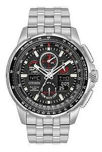 Citizen Eco-Drive JY8050-51E MenÕs SKYHAWK A-T World Time Analog