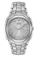 Citizen Men's BM6010-55A Eco-Drive Stainless Steel Silver Dial