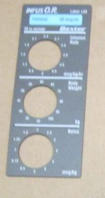 Baxter Bard Infus O.r. Smart Label Fentanil Label L04