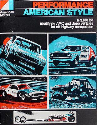 AMC AMX Javelin Racing Parts Book 1968 1969 1970 1971 1972 Performance Modifying