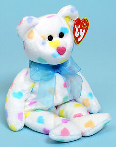 Kissme the bear Ty Beanie Baby stuffed animal