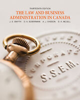MGT 3010 LAW AND BUSINESS ADMINISTRATION IN CANADA