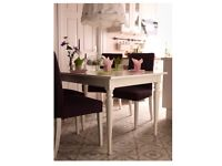 Extendable 4 to 6 Seater Dining Table and Chairs
