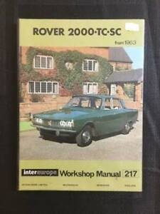 Rover 2000 TC SC from 1963 Workshop Manual, Hardcover