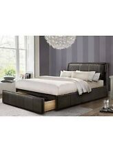 Queen Leather Bed with Drawer Carseldine Brisbane North East Preview