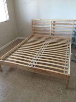 Queen size bedframe & 2 side drawers | Beds | Gumtree Australia