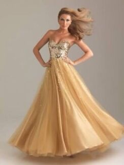 Formal gown gold