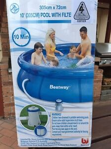 Bestway 10 FT inflatable Outdoor Swimming Pool with Filter Drummoyne Canada Bay Area Preview