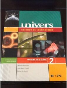 Univers science et technologie, 1er cycle du secondaire