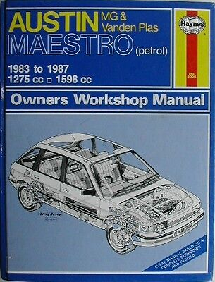 Haynes Austin Maestro MG and Vanden Plas 1983 to 1987  VG Condition