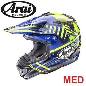 NEW ARAI MOTORCYCLE HELMET MED - 115759599 - ADULT MEDIUM - VX-PRO4 IN SHOOTING STAR BLUE  PROTECTIVE GEAR