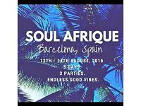 Soul Afrique Weekender, Barcelona, Spain | August 12-14th | Drinks Included
