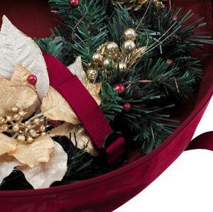 Christmas Wreath Storage Bag - New - Cranberry Red Color Edmonton Edmonton Area image 3