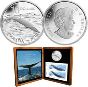 2010 Blue Whale $10 Silver Coin & Stamp Set