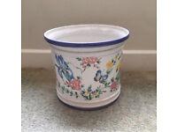 Floral plant pot