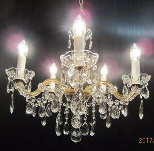 (2) Marie Therese Vintage 5 arm Italian chandeliers $395 ea firm Balga Stirling Area Preview