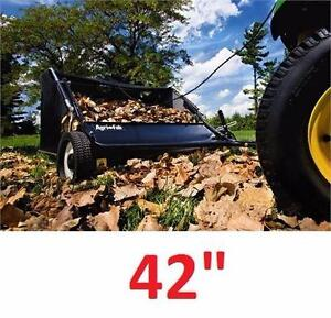 "NEW* AGRI-FAB 42"" SWEEPER TOW LAWN SWEEPER - 42 INCH tractor attachments accessories grass cutting collecting   84237495"