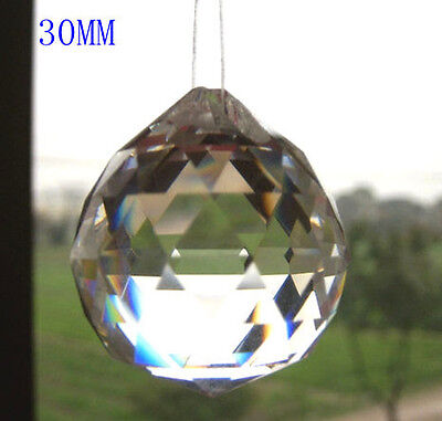 New Arrived 1PCS 30MM Feng Shui Faceted Clear Crystal Prism Lead Ball FREESHIP  on Rummage
