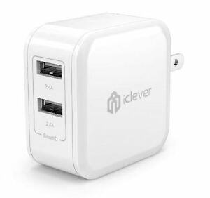iClever BoostCube USB x 2 ~ AC Adapter iPHONE / ANDROID charger