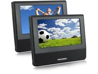 Twin Portable DVD Player with Car Safe Mounting System