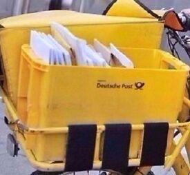 Yellow Deutsche Post Mail Crate.Suitable for Storage/Collectable Item.