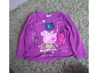 Girls Peppa Pig Long sleeve top