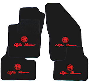alfa romeo 156 tapis de sol 4 x sigle noir rouge. Black Bedroom Furniture Sets. Home Design Ideas
