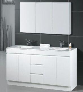 Brand NEW 1500mm Onyx Stone Top Vanity Double Ceramic Bowls Woy Woy Gosford Area Preview