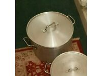 Excellent Condition Like new Commercial Steel heavy duty stock pot 44L Worth £140