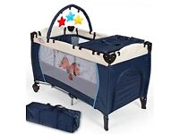 TecTake Baby Travel Cot including mattress for sale. Including training toilet and baby bath.