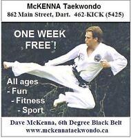 1 WEEK FREE - TAEKWONDO - BEGINNER CLASSES