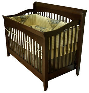 College Woodwork Solid Wood Convertable Crib