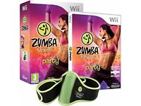 Wii Zumba Fitness Join The Party Bundle Pack (Game And Belt)