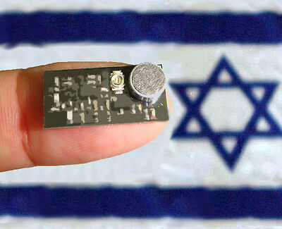 - Micro Spy Bug Radio FM Transmitter only of nail size! up to 300m Made in ISRAEL