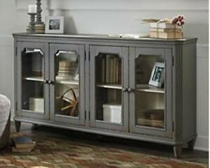 NEW Distressed Grey Sideboard Narrow Profile Just 14