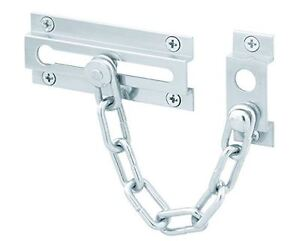 NEW in Box:  Chrome-Satin Chain Door Guard