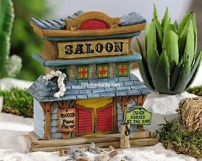 Hobbit House - Miniature Wild West Saloon GI 706433 House Fairy Gnome Hobbit Western Garden