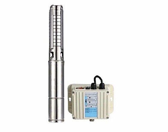 """Schraiberpump 4"""" Submersible Deep Well Pump Stainless Steel Impellers - 1HP"""