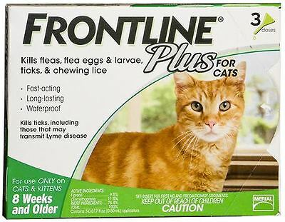 Frontline Plus for Cats Green 3 Pack