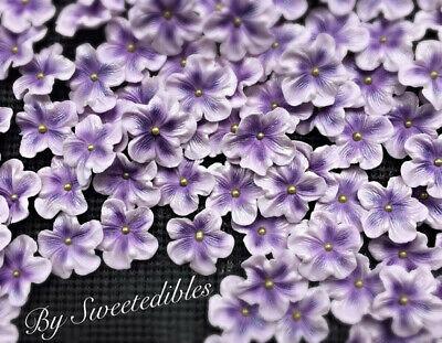 Gum Paste Flowers Blossoms Light Purple Sugar Edible Blossoms Cakes and Cupcakes (Purple Gum)
