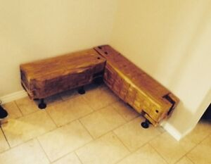 25% Off Sale - Large Reclaimed Beam Hall Bench 12X18X48