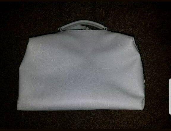 Ladies Grey Double Zip Bag - New from New Look